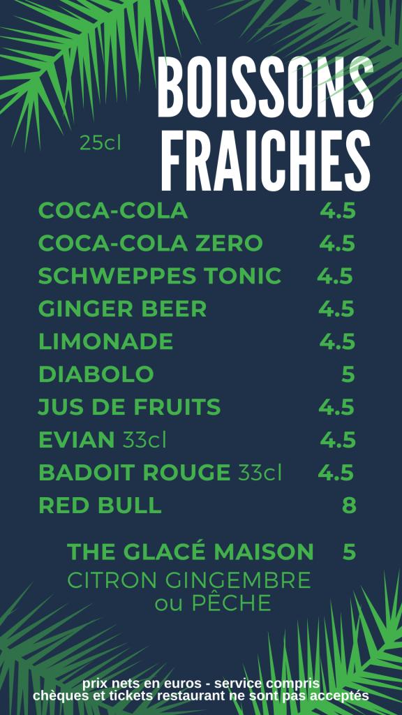 boissons fraiches